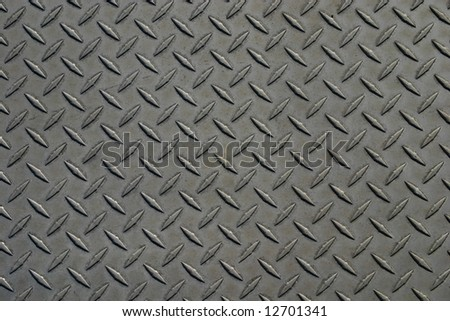 Dirty diamond deck sheet steel - stock photo