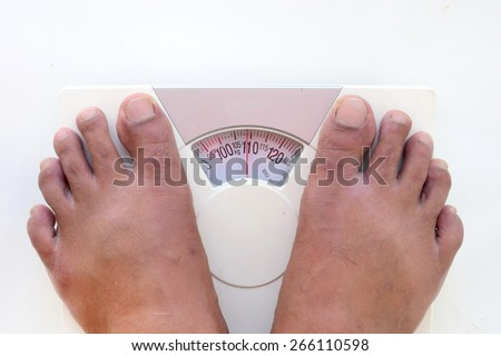 dirty foot man over 100 kg