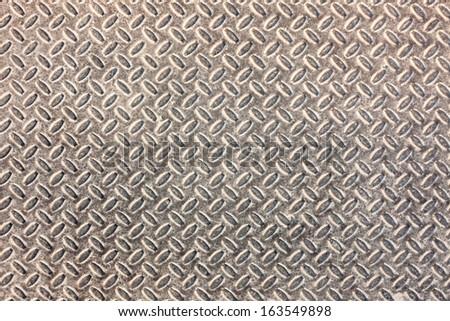Dirty industrial grip floor texture pattern - stock photo