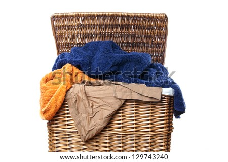 dirty laundry - stock photo