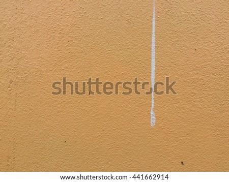 Dirty light orange concrete wall texture background, yellow concrete texture - stock photo