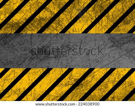 Dirty metal texture - Industrial - Warning - stock photo