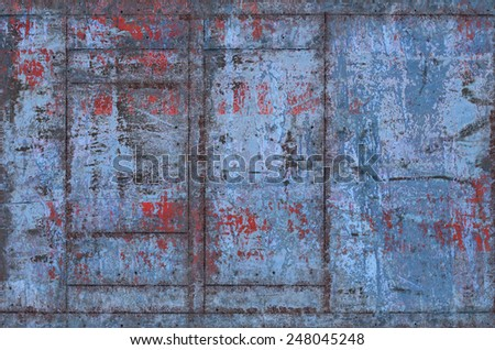 Dirty Metal Texture with Seams (Part of Grungy Textures with Rusty Seams set, which includes textures that can be used together to create a huge image) - stock photo