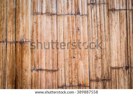 dirty old bamboo wall. for background.