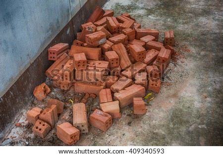 Dirty old orange bricks