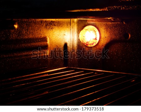 Dirty oven - domestic chore neglected - stock photo