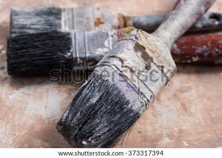 Dirty Paint Brushes