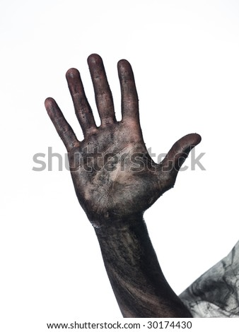 Dirty hands isolated stock photos illustrations and vector art