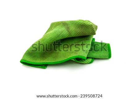 dirty rag isolated on white background - stock photo