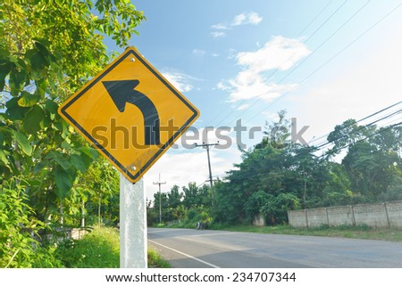 Dirty road sign . - stock photo
