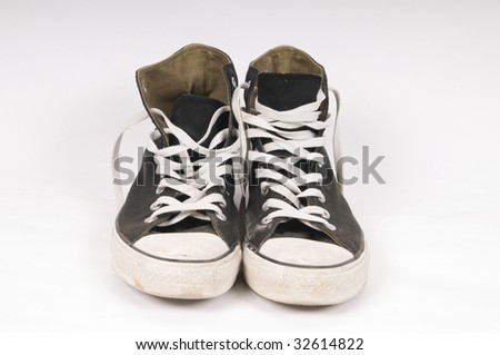 Dirty shoe - stock photo