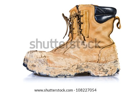 dirty shoes - stock photo