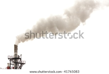 Dirty smoke isolated, ecology problems - stock photo