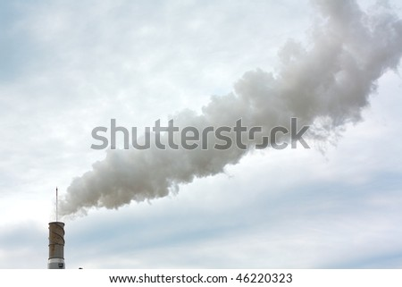 Dirty smoke on the sky, ecology problems