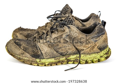Dirty sneakers - stock photo