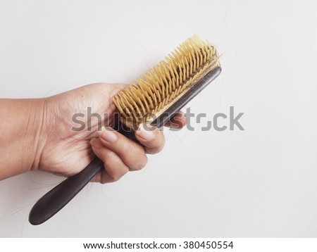 Dirty used hair comb