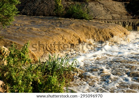 dirty water ecology concept - stock photo