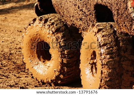 Dirty Wheels - stock photo