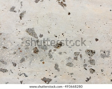 Dirty white cement mortar crack floor texture background