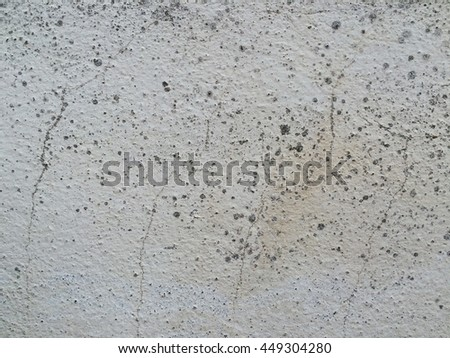 Dirty white concrete crack wall texture background
