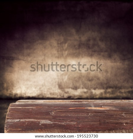 dirty wooden top and wall  - stock photo