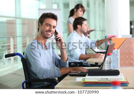 Disability and work - stock photo