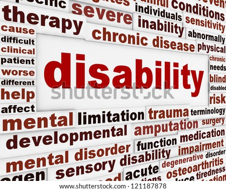 Disability medical message background. Health care poster design - stock photo