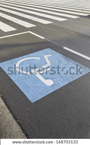 Disability parking in urban road accessibility