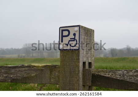 Disability parking sign - stock photo