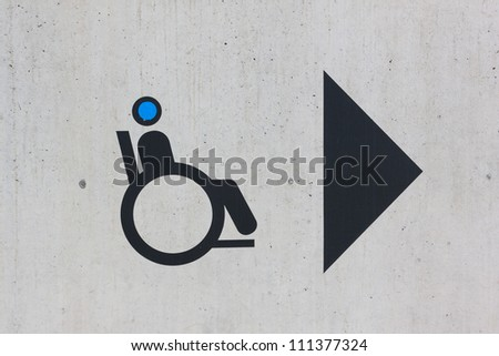 Disability sign on grunge background - stock photo