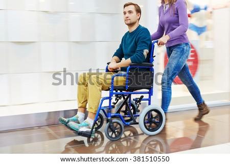 Disable guy - stock photo
