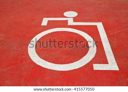 Disable parking road sign. - stock photo