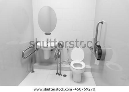 Hospital Bathroom Stock Images  Royalty Free Images   Vectors   disable toilet   black and white. Hospital Bathroom. Home Design Ideas
