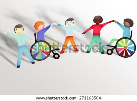 Disabled, Child, Physical Impairment. - stock photo