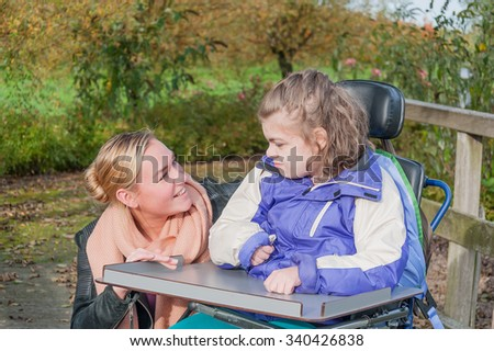 Girl care of disabled old man 6