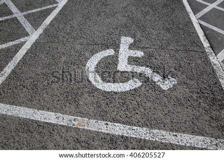 Disabled Parking Sign in Urban Setting