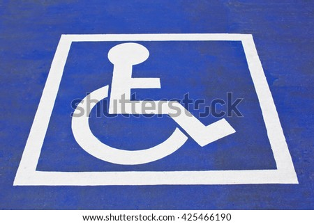 Disabled permit sign - stock photo