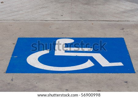 disabled symbol - stock photo