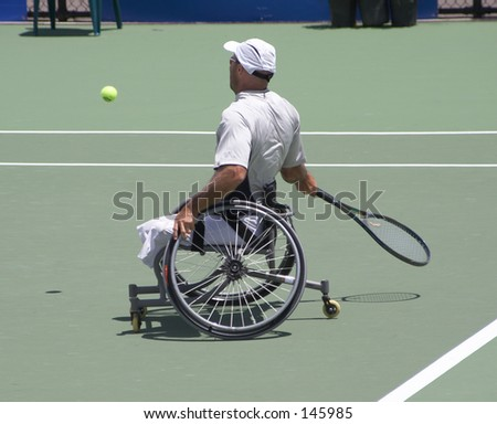 Disabled Tennis Player - stock photo