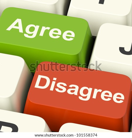 Disagree And Agree Keys For Online Poll Or Web Voting - stock photo