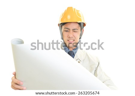 Disappointed Asian worker