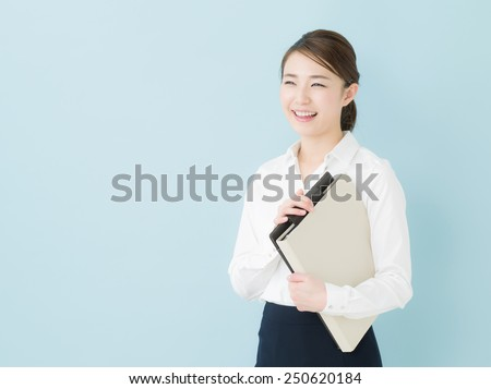 Disappointed business woman - stock photo