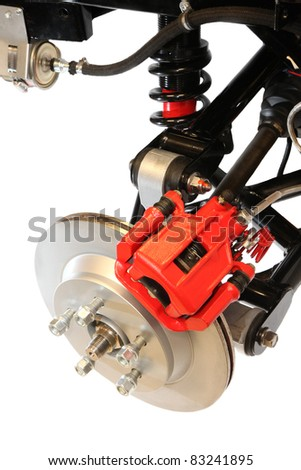 Disc Brake and Shock Assembly of Sports Car