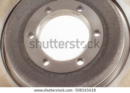 disc brakes steel with six holes for cars