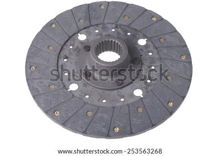 Disc clutch isolated on white