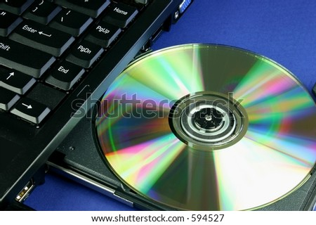 Disc in laptop CD tray