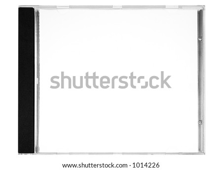 Disc Labeling – Blank Disc Cover w/ Path (Front View) - stock photo