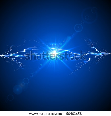 Discharge of electricity - stock photo