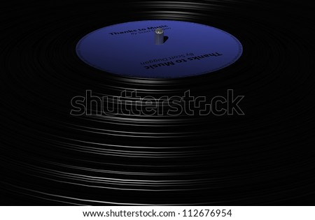 disck vinyl - stock photo
