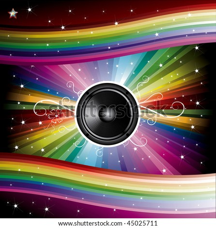 Disco Background for Music Flyers  illustration
